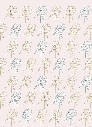 Carte Papier peint pivoines