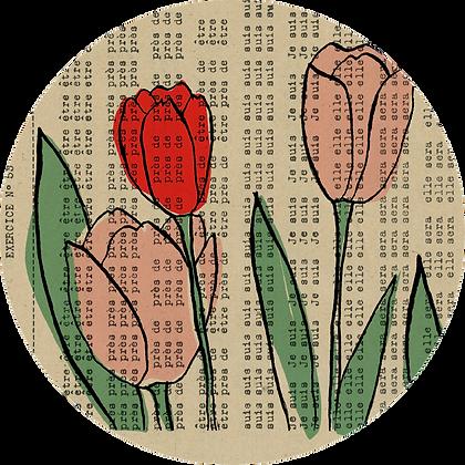 Badge tulipes