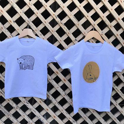 "Tee-shirt ""Edmond l'ourson"" enfant blanc"