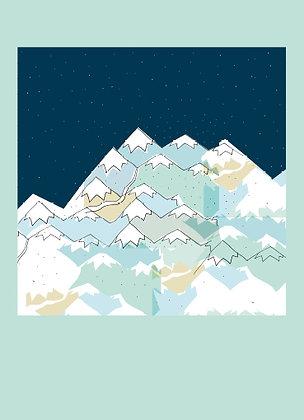 Carte montagnes