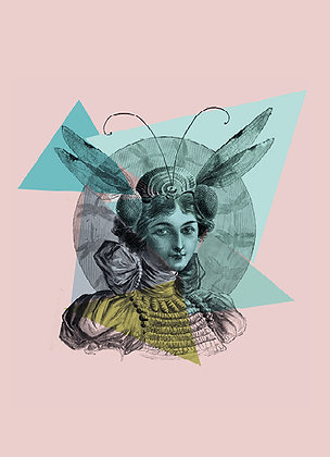 Carte femme libellule