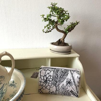 Trousse de toilette Motif Floral 22 x 13,5 x 8
