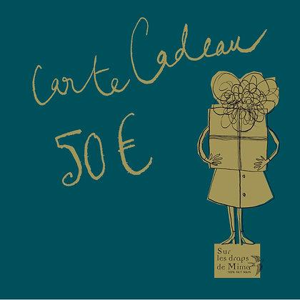 Carte cadeau Madame 50 euros