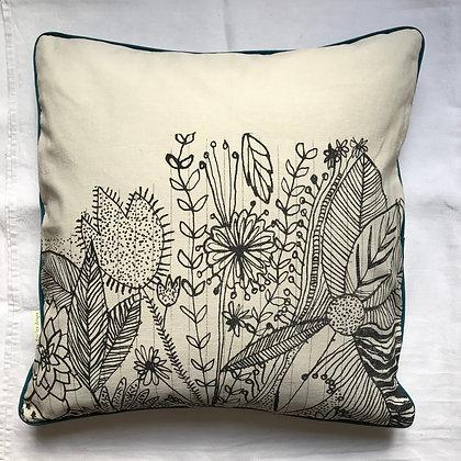 Coussin motif végétal 50 x 50