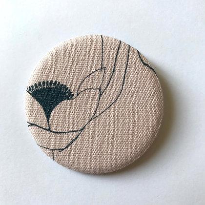 Badge tissu anémone