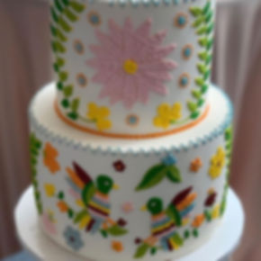 Embroidery cake by the talented _cakesby