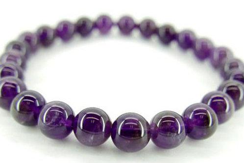Amethyste  perles Bracelet