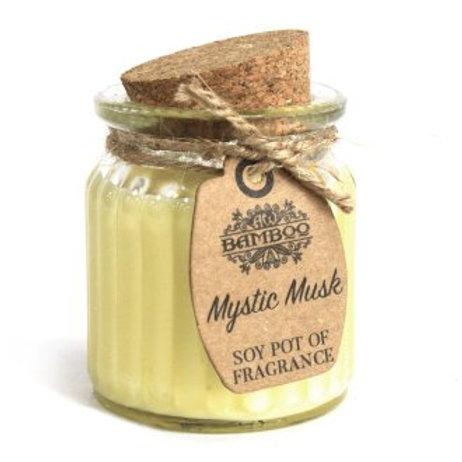 Bougies en pot à la cire de soja - Musk mystique