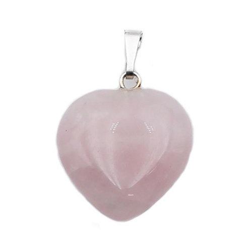 Quartz Rose Pendentif Coeur