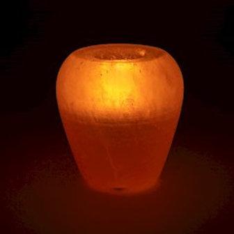 Bougeoir en cristal de sel pomme