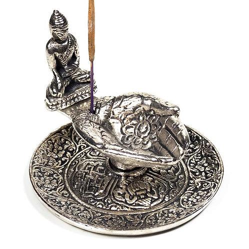 Brûleur d'encens mains offertes avec Bouddha