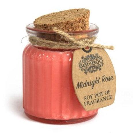 Bougies en pot à la cire de soja - Rose de minuit