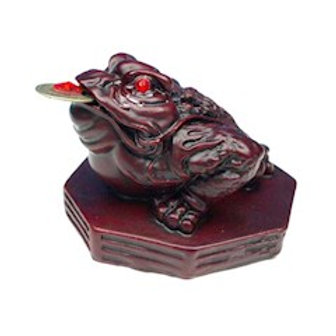 Grenouille Feng Shui rouge