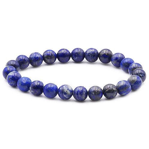 Bracelet Boule 08mm Lapis Lazuli AB