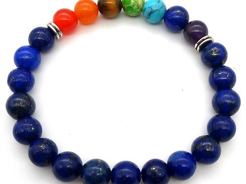 Lapis Lazuli & 7 Chakras Bracelet