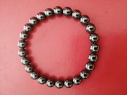 Hématite bracelet boule