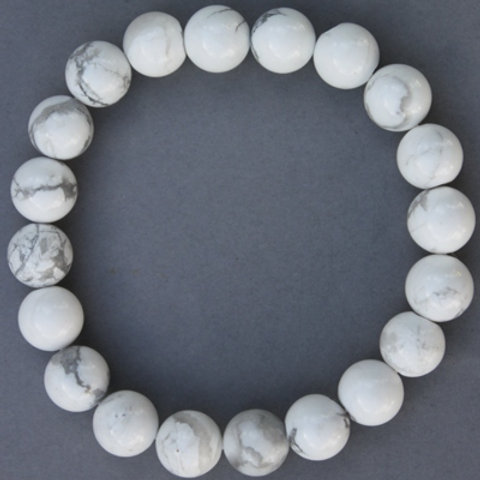 "Howlite Bracelet 8 mm ""Large"""