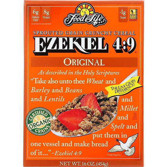 Food For Life, Ezekiel 4:9 Organic Sprouted Grain Cereal, Original, 16 oz