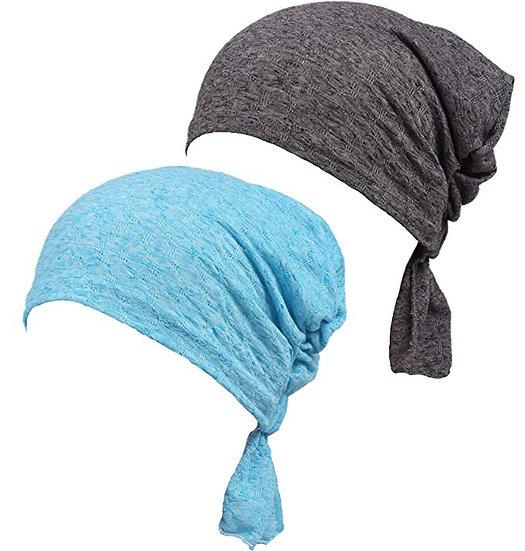 DancMolly Ruffle Chemo Turban Cancer Headband Scarf Slouchy Beanie Cap