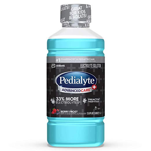 Pedialyte AdvancedCare+ Berry Frost, 1 Liter, 4 Count
