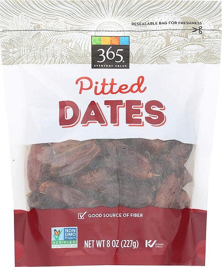 365 Everyday Value, Dates, Pitted, 8 oz