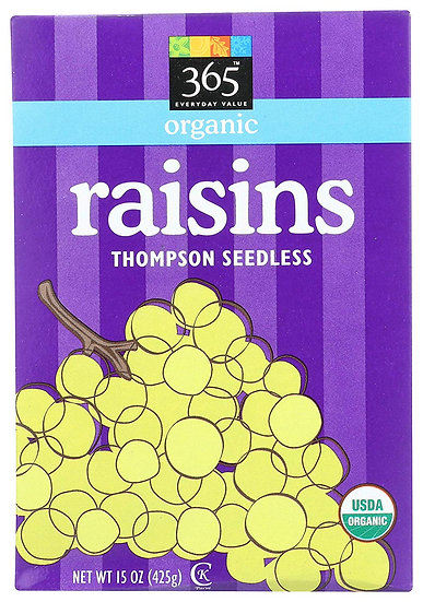 365 Everyday Value, Organic Raisins, 15 oz