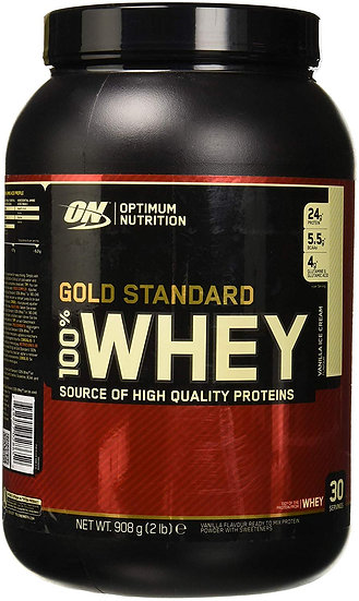 OPTIMUM NUTRITION GOLD STANDARD 100% Whey Protein Powder, Vanilla Ice Cream 2lbs