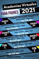 Spanish Flyer Parent Academies Jan 2021.