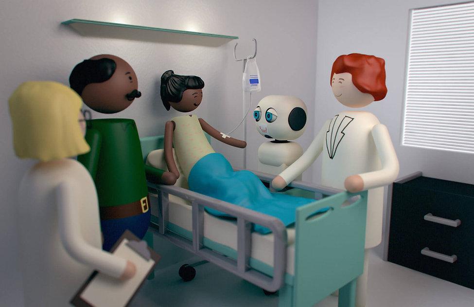 USC Viterbi Magazine MAKI Humanoid Robot Illustration by David Meyers