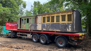 'New' 130 year old coach body arrives at the Swanage Railway