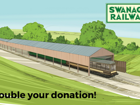 Double Your Donation! Match funding helps accelerate Swanage carriage shed appeal