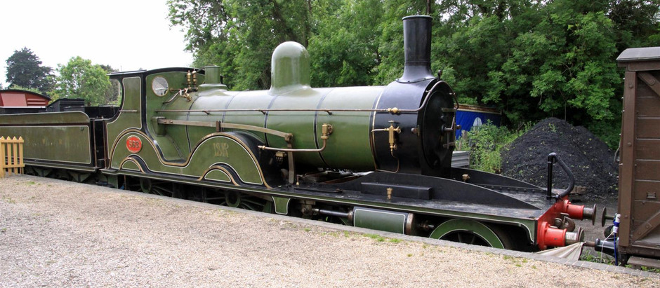 Unique Victorian Steam Locomotive Donated to the Swanage Railway unveiled in front of its Designer