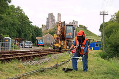 Strimming at Corfe Castle.jpg