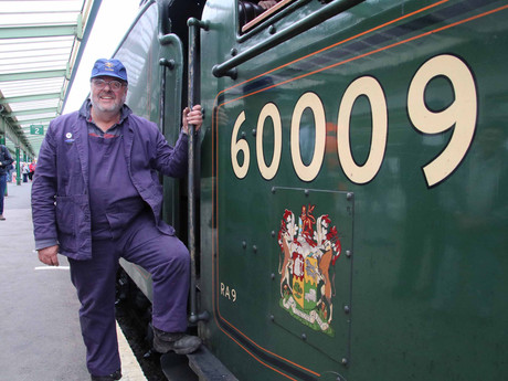 Dream Comes True for Founder Swanage Railway Volunteer on his Favourite Main Line Steam Locomotive