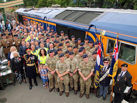 Main Line Diesel Locomotive Named 'Royal Corp of Signals' to Mark 33 Year Association with S