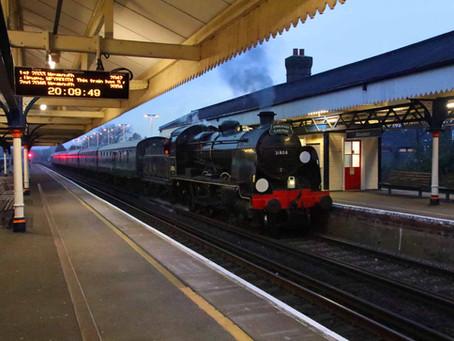 Southern Railway 1920's 'Mogul' Steam Locomotive Hauls Train on Dorset Main Line for First Time