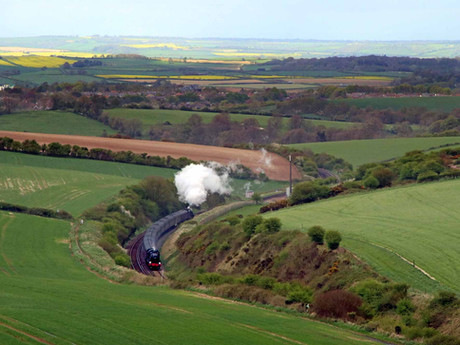 Southern Railway 1920s 'Mogul' Steam Locomotive Makes History by Hauling First Dorset Main Line Pass