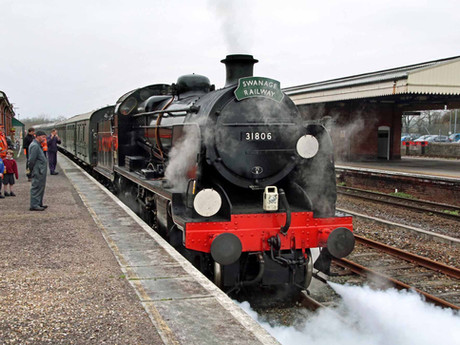 Southern Railway 'Mogul' Steam Locomotive to Make History by Hauling First Dorset Main Line Passenge