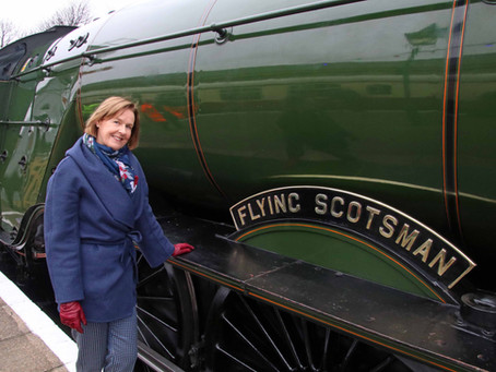 Daughter of Man Who Saved 'Flying Scotsman' Asks Public to Support £360,000 Coronavirus Appeal