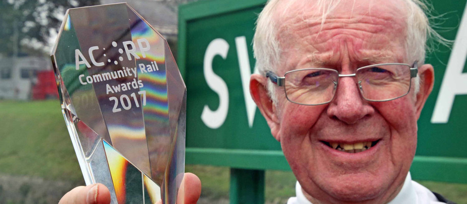 Swanage to Wareham Train Service Wins Purbeck Community Rail Partnership 'Innovation in Communit