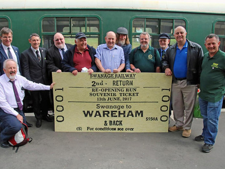 Volunteers Celebrate Returning Swanage to Wareham Train Service for First Time in 45 Years