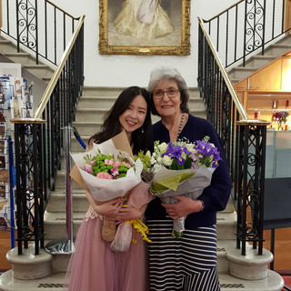 Stephanie Onggowinoto with Professor Norma Fisher