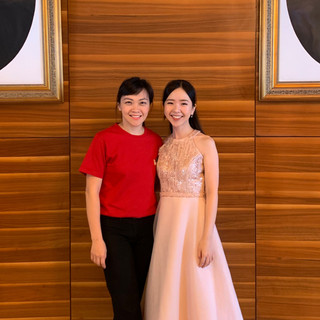 Stephanie Onggowinoto with Eunice Tong