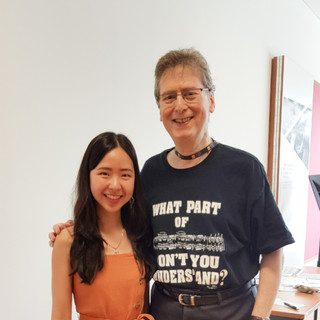 Stephanie Onggowinoto with Professor Robert Levin