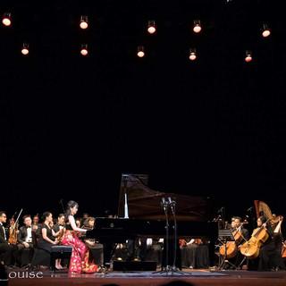 Stephanie Onggowinoto with Ananda Sukarlan Orchestra at Taman Ismail Marzuki