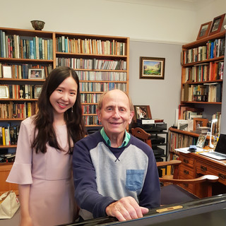 Stephanie Onggowinoto with Professor Christopher Elton