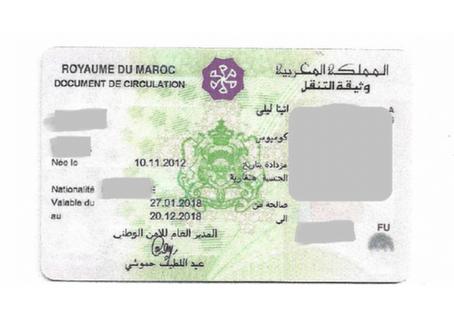 Maroc - Alerte - Document de Circulation pour les enfants mineurs