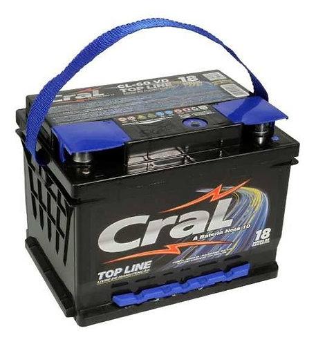 Bateria Cral 60Ah - 18 meses de garantia