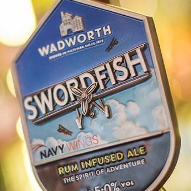 By far the best ale in the world - Wadworth Swordfish Ale infused with Pussers Rum! In stock!