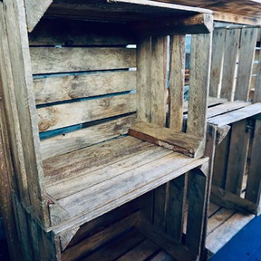 Crates...soon to be filled with fine rums...